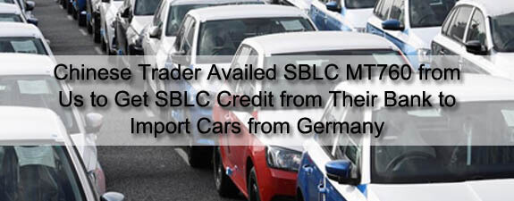 SBLC Credit to import cars from germany